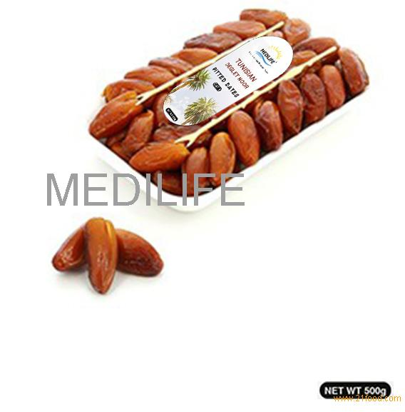 Pitted Dates, Premuim Quality Tunisian Dates Tray 500 gr