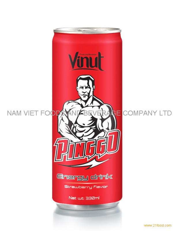 330 ml Pinggo Energy drink Strawberry flavor(can)