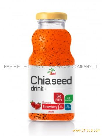 250ml Chia Seed Drink Strawberry Flavor