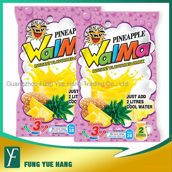 60g Pineapple Flavour Instant Fruit Juice Powder