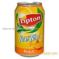 Lipton ICE TEA Peach 330ml cans.