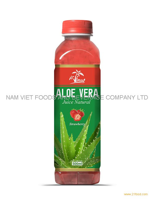 500m Strawberry Aloe Vera Drink