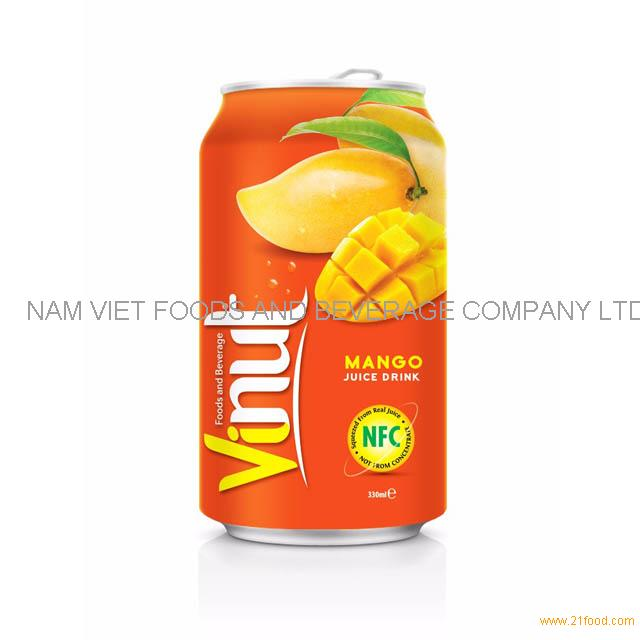 330ml Canned Fruit Juice Mango Juice Drink Manufacturer