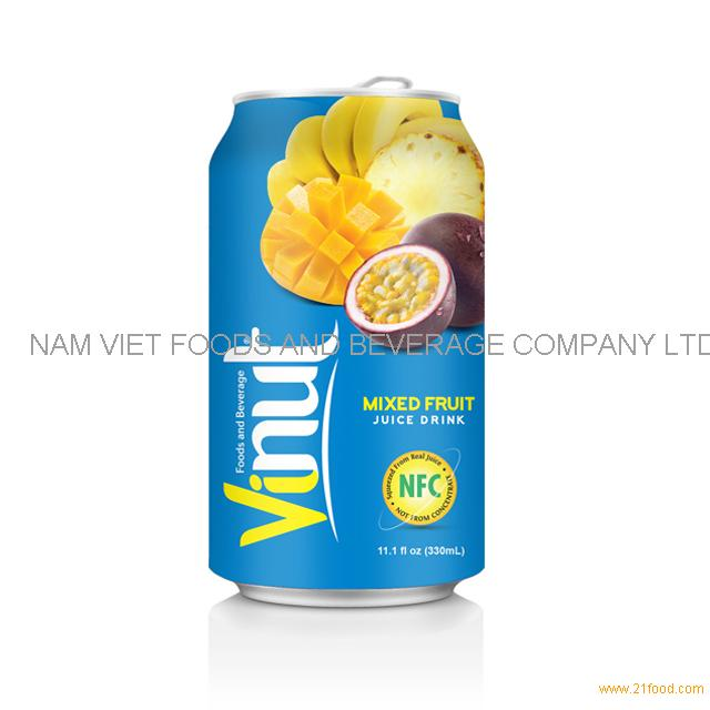 330ml Canned Fruit Juice Mix Juice Drink Wholesale Supplier