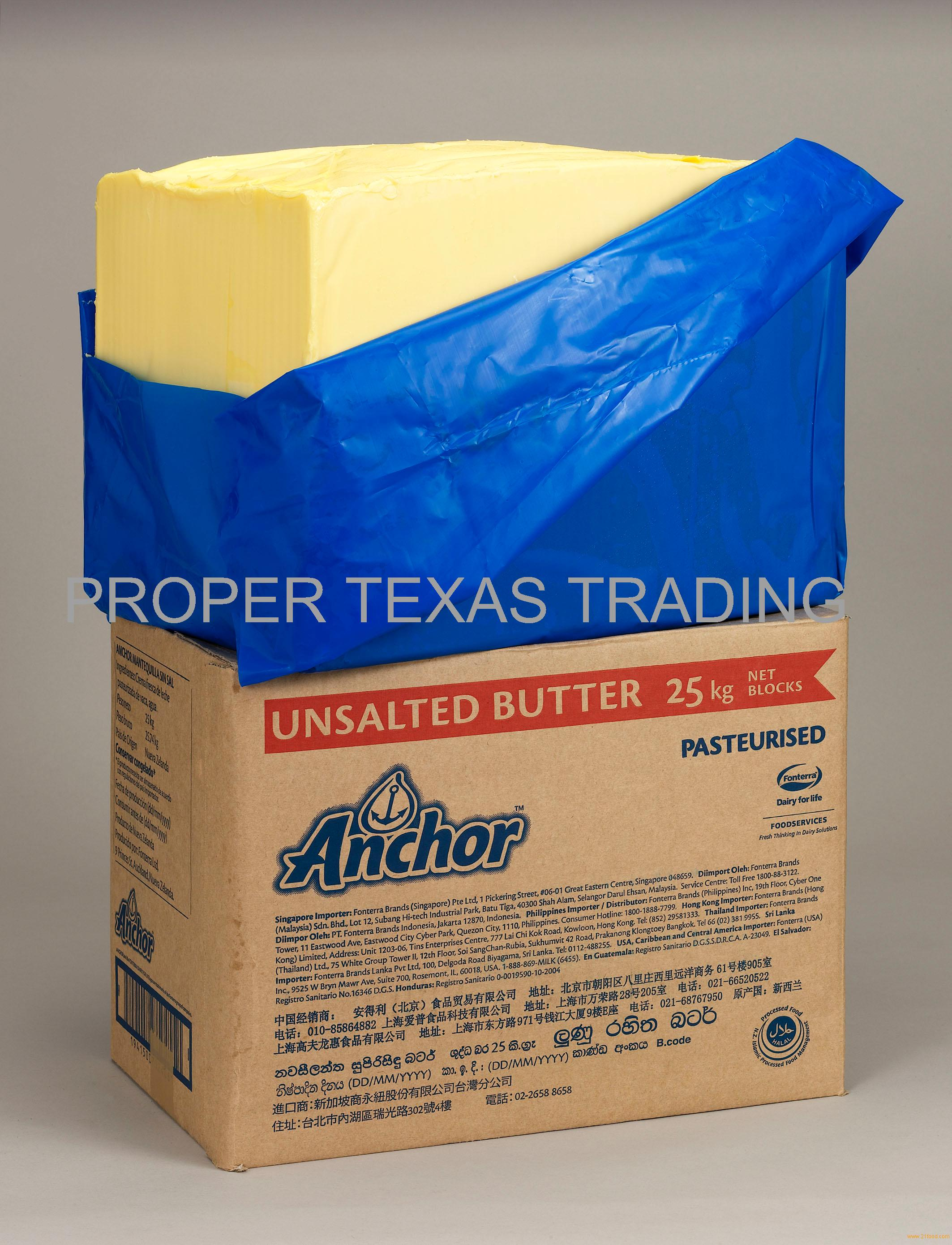 ANCHOR NEW ZEALAND ORIGIN FONTERRA UNSALTED BUTTER 82%