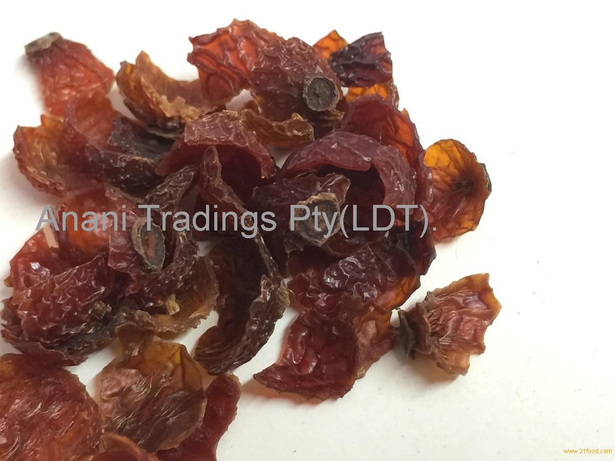 Rose canina fruit shell and seeds