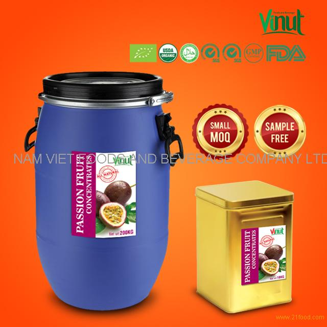 Vietnam Best Supplier Of Passionfruit Concentrated Juice