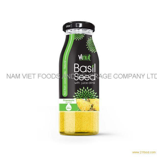 200ml Glass Bottle Basil seed with Pineapple flavor