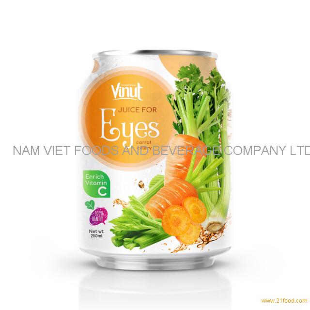 250ml Can 100% Vegetable Juice - Juice for Eyes