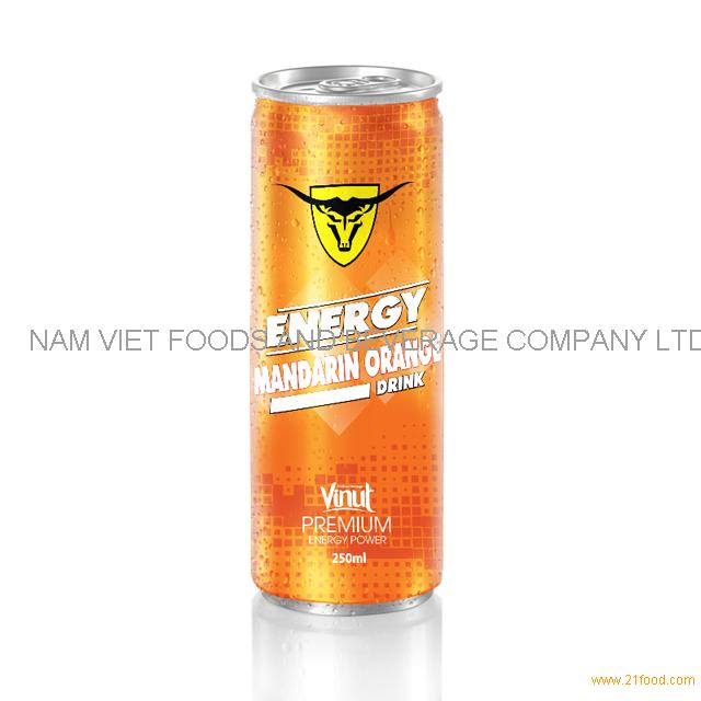 250ml Premium Energy Drink Mandarin Orange