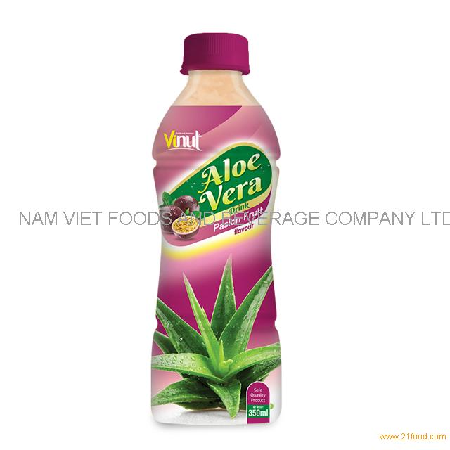 350ml Bottle Natural Aloe Vera Juice with Passion juice