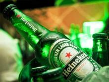 Cold and fresh Heineken beer bv