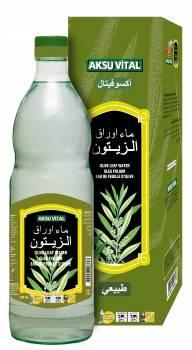 Aromatic Olive Leaf Water 500 ml Glass Bottle Natural Floral Health Drink