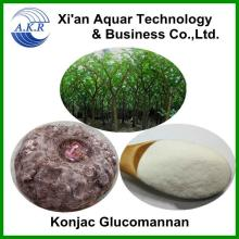 Food Grade Konjac Powder Glucomannan 90%,natural konjac glucomannan powder