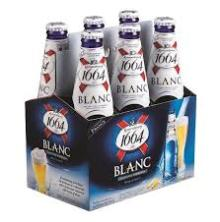 Kronenbourg 1664 blanc beer in blue 25cl, 33cl bottles and 500cl Cans for sale