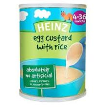 Heinz Baby Food -EGG CUSTARD WITH RICE WHOLESALE