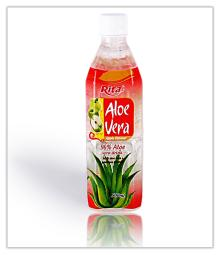 Aloe vera with apple flavor 500ml bottle