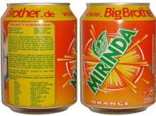Mirinda Orange Soft Drink 330ml Can