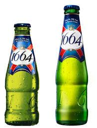 . Kronenbourg 1664 blanc beer in blue 25cl and 33cl