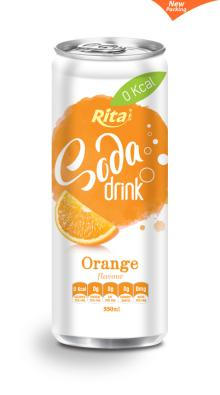 330ml Orange Flavour Soda Drink in Can
