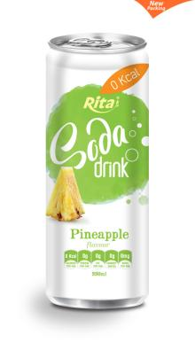 330ml Pineapple Flavour Soda Drink in Can