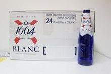 Kronenbourg 1664 blanc 250ml from France.