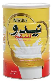 Red Cap Nido Milk Powder Arabic Text