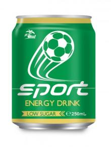 250ml Aluminium Sport Energy Drink Low Sugar