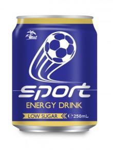 250ml Aluminium Can Sport Energy Drink Low Sugar
