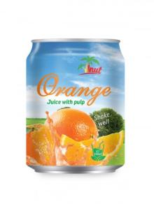 250ml Short Can Orange Juice With Pulp