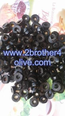 Ripe sliced black olives