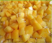Fresh Canned Yellow Peach Dices