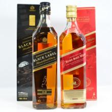 Double Black Label Whisky, Red Label, Black Label