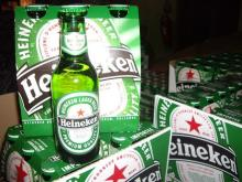 Heineken beer 250ml, 330ml, 500ml.