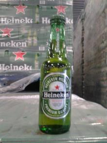 Dutch Heineken cans and bottles