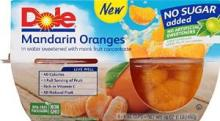 Dole Fruit Cups - Mandarin Oranges - 7 oz Size - 12 Cups