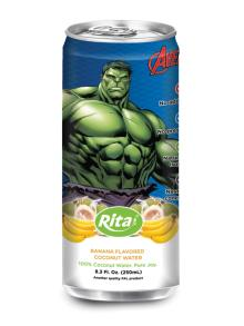 250ml alu can Banana Flavored Coconut Water