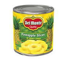 canned pineapples in light syrup