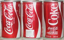 Coca-Colas, Fanta and Sprite Soft Drinks Cans and Bottles