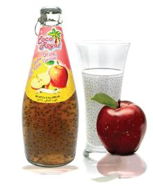 Basil Seed Drink with fruit flavors Glass Bottle 290ml