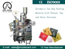 Inner and Outer Tea Bag Packing Machine with Thread and Tag