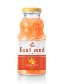 250ml Orange Flavour Basil Seed Drink
