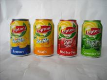 Lemon Flavor Lipton Ice Tea in Cans