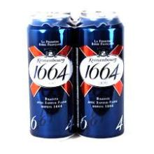 French Origin Kronenbourg Blanc Beer 1664 in differrent Sizes bottles/cans