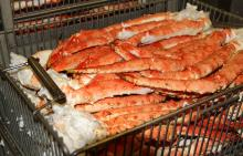 Frozen Red King Crabs, Live Red King crabs, Frozen King Crab Legs