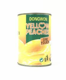 425g Canned Peach in Syrup with easy open
