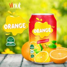 330ml Canned Real Orange Juice Enrich Vitamin C