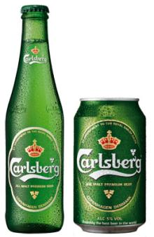CARLSBERG BEER BOTTLES & CANS