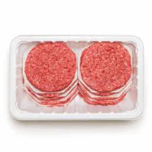 Fresh ground beef patties