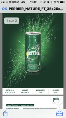 Perrier Slim Cans 250 ML